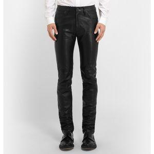 Acne Studios   100% Leather Depp Trouser 48